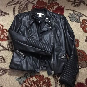 H&M faux leather jacket Sz 2